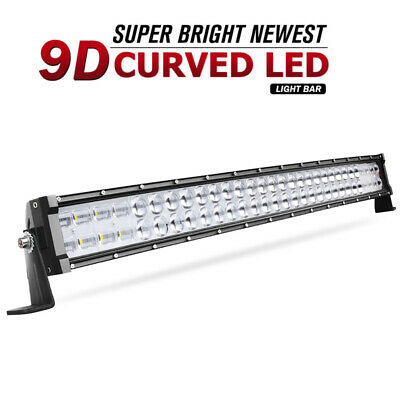 led light bar 32inch 420w offroad driving spot flood beam 34 marine boat + wiring