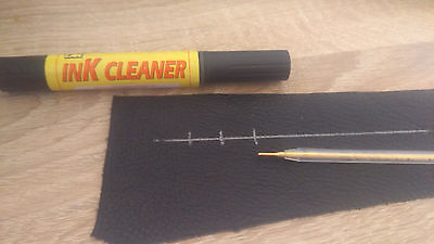 1 set of  Marking Pen Silver + Ink Cleaner for Leathercraft Cutting  Leather Cut