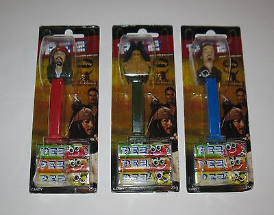 Vintage Disney Pez Pirates Caribbean Lot of 3 Differents MB FREE SHIPPING