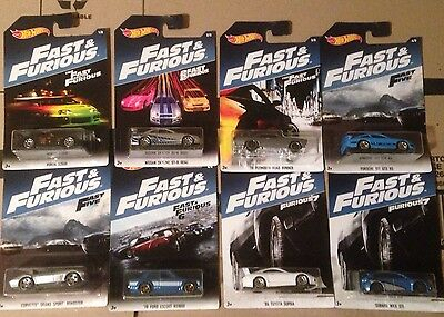 2017 Hot Wheels Fast And The Furious Collection Set Of 8