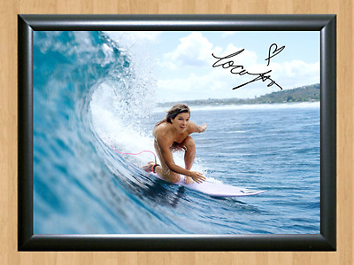 Coco Ho Surfing Surfer Surf Signed Autograph A4 Poster Photo Print Naked Nude 1