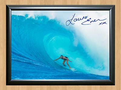 Laura Enever Surfing Surfer Surf Signed Autograph A4 Poster Photo Print Board 2