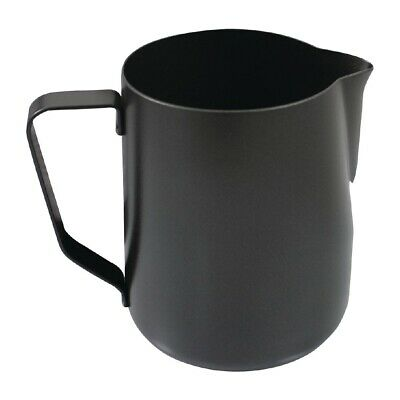 Rhinowares Stealth Milk Steaming Jug Black 300ml BARGAIN
