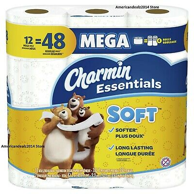 Charmin Essentials Strong Toilet Paper Bath Tissue Giant Roll 20 OR 40 Rolls NEW