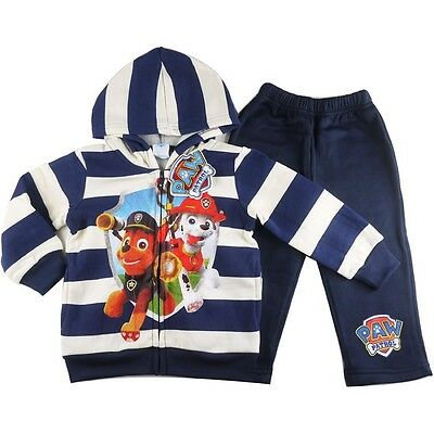 NEW Size 2-5 PAW PATROL ZIP HOODIE TRACKSUIT JACKET TOP WINTER OUTFITS KIDS BOYS