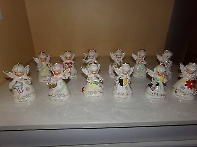 Napco Angels Set of 12 January through December Figurines