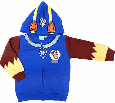 NEW Size 2~6 PAW PATROL CHASE JUMPER BLUE JACKET TOP WINTER OUTFITS KIDS BOY'S