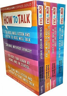 How to Talk So Kids and Teens Will Listen Collection Adele Faber 4 Books Set NEW