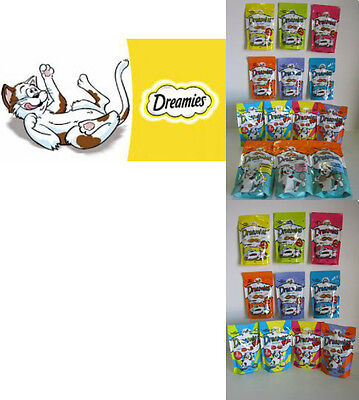 Dreamies 8/16//24 Packs of 60g, Single Flavours & Dreamies Mix Flavours