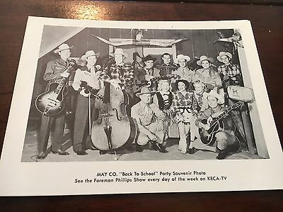Town Hall Party Photo Small Merle Travis with Bigsby Guitar Johnny Bond