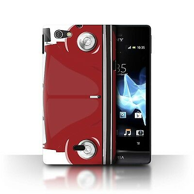 Case/Cover Sony Xperia Miro/ST23I / Retro Beetle / African Red