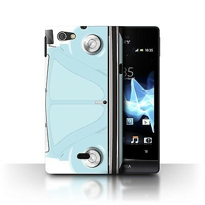 Case/Cover Sony Xperia Miro/ST23I / Retro Beetle / Marina Blue