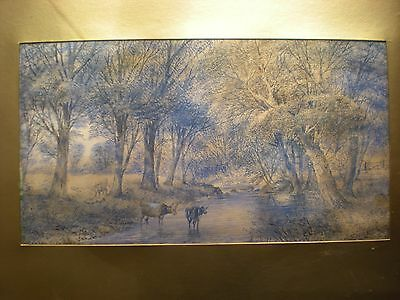 Framed Pen and Ink drawing by Stanley Herdman