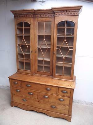 A Truly Superb Antique Pine Late Georgian Kitchen Dresser / Bookcase
