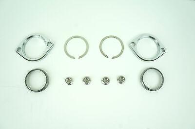 Harley Davidson Exhaust Flange Install Kit C-Clips Serrated Nuts Flanges Gaskets