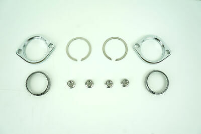 Harley Exhaust Flange Install Kit C-Clips Serrated Nuts Flanges Gaskets Fits: Ha