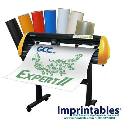 "Vinyl Cutter PACKAGE - GCC Expert II 24"", Sign Supplies & Stand - **NEW"