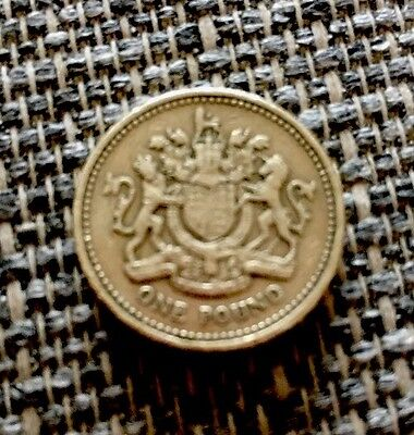 Rare 1983 £1 Royal Coat of Arms The First One Pound Coin Circ Uk Coin