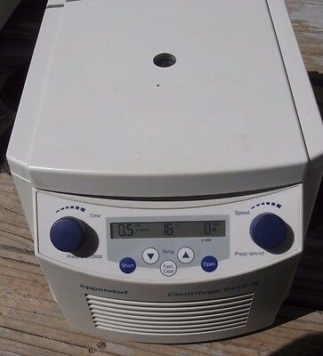 Eppendorf 5415R Refrigerated Centrifuge w Rotor & lid, 6 month warranty