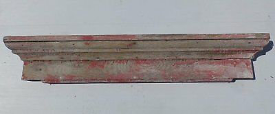 Antique Window Door Header Pediment Shabby Vtg Chic Red Country 414-17R