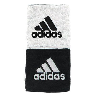 "Adidas Interval 3 "" Reversible Wristbands – White/Black (NEW) Includes 2 Bands"