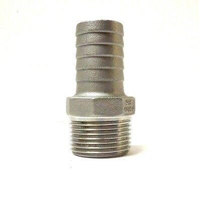 "Hose Barb Fitting Economy 1"" Npt X 1"" Hose Id 316 Stainless Steel  003Wh"