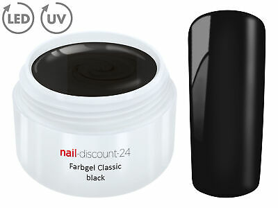 Color UV Gel FARBGEL SCHWARZ 5ml Frenchgel Modellage Nail Naildesign Nägel