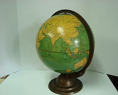 "Vintage Antique Cram 12"" Terrestrial World Globe 1930's Deco"