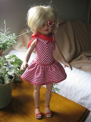 """14"""" Reimagined Tonner Sitting Pretty Jane with Sunglasses, New Eyes, Monique Wig"""