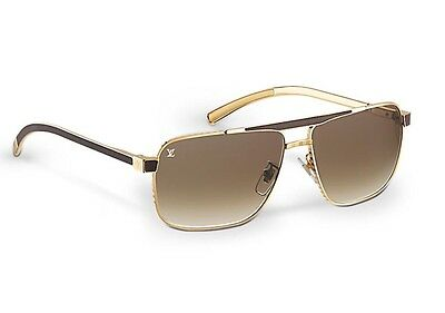 439ca2e34b LOUIS VUITTON PERSUASION Carré Z0549U Gold Moka Sunglasses - EUR 325 ...