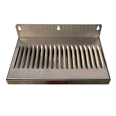 "6"" x 12"" Stainless Steel Wall Mount Draft Beer Drip Tray"
