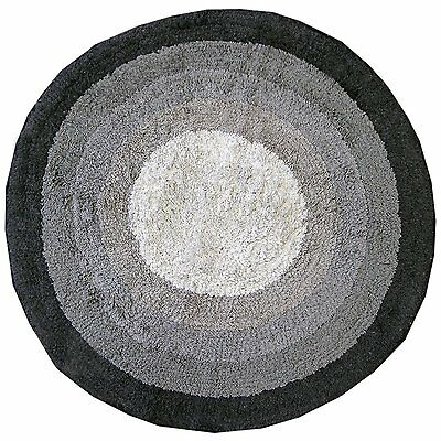 Just Contempo Gradient Round Bath Mat, Black