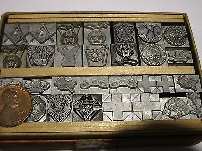 Vintage Handy Box #121 From Baltimore Type Letterpress Society Emblems &insignia