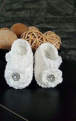 Hand made crochet booties / shoes for baby girl 0-3months