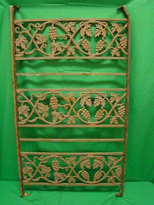 Antique Iron fence  panel Victorian Ornate  grape clusters 1800's