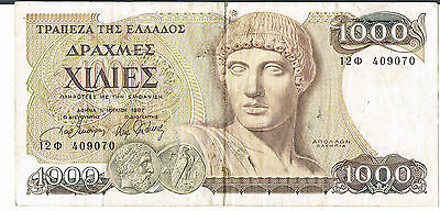 Greece Banknote 1000 P202 1987 Vf