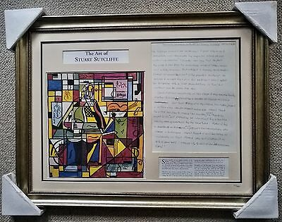 """The Art of Stuart Sutcliffe""  Limited edition framed print"