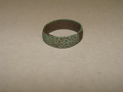 Ancient Ring Bronze. 10-12 century.  The remains of the ornament. #2