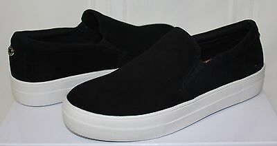 75f58623ecd Steve Madden Gills Slip On Sneaker style shoes Black Suede New With Box
