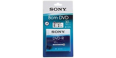 Sony Disc For Camcorder 8cm DVD-R Pack of 3 in Jewel Case SEALED