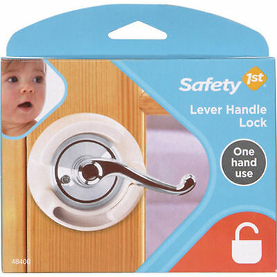 Safety 1st French Door Lever Handle Baby Proof Child Lock  One Hand Use