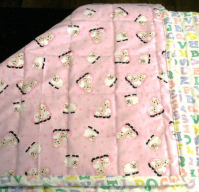 Handmade Baby Boy/Girl Machine quilted 100% New Cotton quilt
