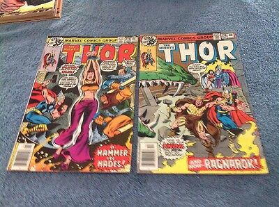 Marvel Comics - The Mighty Thor - Lot of 2 - 278-279 1978 est. FMV $8