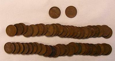 Roll Of 50 1925-D Lincoln Wheat Cents!!  Very Nice Coins!!