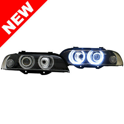 97-03 BMW E39 Helix E-Code Super Bright Angel Eye Projector Headlights - Clear