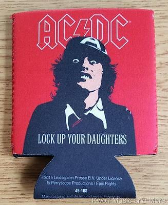 """AC/DC Koozie/Can Cooler  """"Lock Up Your Daughters""""  Official/Licensed   NEW"""
