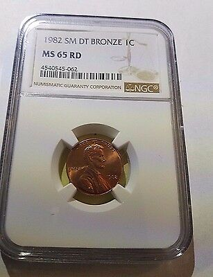 1982 Lincoln Memorial Cent Small Date Bronze  NGC MS 65 RD Free Ship!