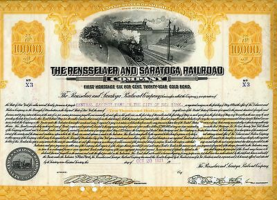 The Rensselaer and Saratoga Railroad stock certificate, 1921