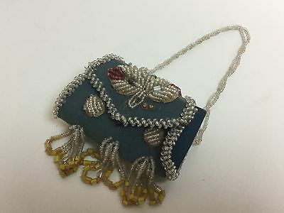Antique Vintage Native American Beadwork IROQUOIS Indian Beaded Bag Purse