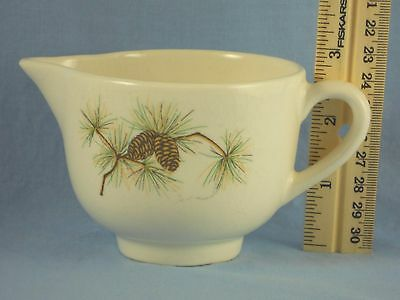 Vintage Creamer Pine Branch with PINECONES Signed U.S.A.